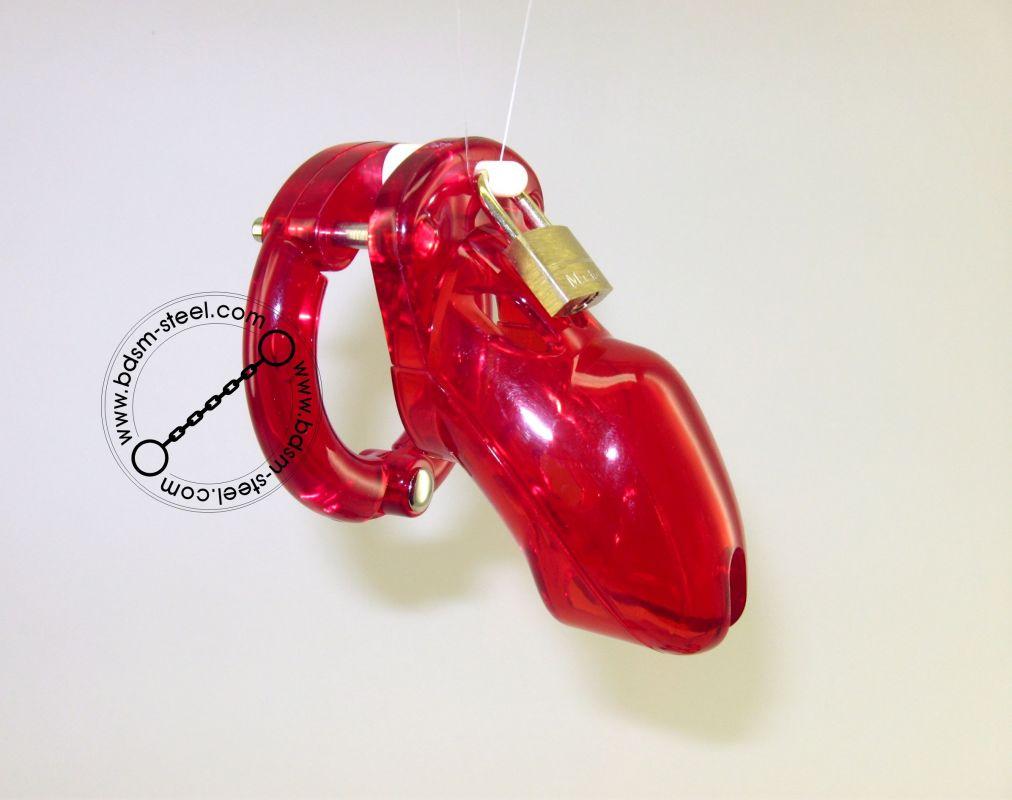 Mužský pás cudnosti CB 3000 red